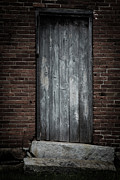 Door Prints - Old Blacksmith shop door Print by Edward Fielding