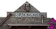 Old Blacksmith Sign  Print by Valerie Garner