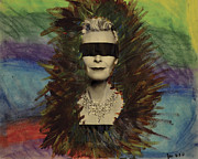 Featured Mixed Media Originals - Old Blind Beaut  by Leah Chyma