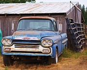 Blue Chevy Photos - Old Blue by Angi Parks