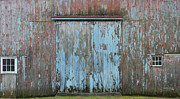 Old Structure Framed Prints - Old Blue Barn Framed Print by Anahi DeCanio