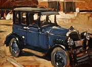 Antiques Paintings - Old Blue by David Simons