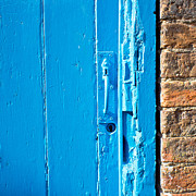 Old Blue Door Print by Tom Gowanlock