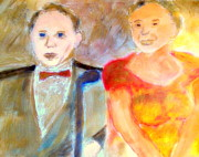 Come With Me Prints - Old Blue Eyes and Old Blue Note Frank Sinatra and Ella Fitzgerald Impressions 1 Print by Richard W Linford