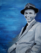 Large Scale Painting Posters - Old Blue Eyes - Frank Sinatra Poster by Michael Kypuros