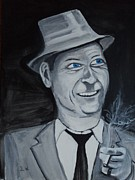 Frank Sinatra Painting Originals - Old Blue Eyes by Justin Williams