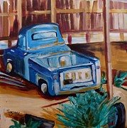 Suzanne Willis Metal Prints - Old Blue Truck Metal Print by Suzanne Willis