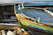 Watercolors Photo Originals - Old Boat - Lebanese Artist Zaher El- Bizri by Zaher Bizri