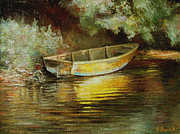 Custom  Studio Paintings - Old Boat by Vladimir Volosov