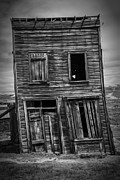 Leaning Building Framed Prints - Old Bodie Building Framed Print by Garry Gay