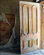 Old Cabins Photos - Old Bodie Door by Lydia Warner Miller