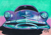 Vintage Cars Pastels - Old Bomber by Michael Foltz