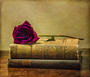 Work Of Art Photo Posters - Old Book Love Poster by Terry Rowe