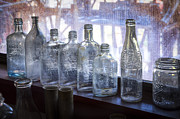 Junk Photos - Old Bottles by Debra and Dave Vanderlaan