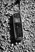 Old Broken Smashed Thrown Away Cheap Cordless Phone Usa Print by Joe Fox