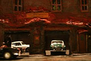 Triumph Mixed Media Prints - Old Brooklyn Garage Print by William Bezik
