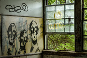 Old Windows Posters - Old Building - Abandoned Asylum Room - Lost souls Poster by Gary Heller