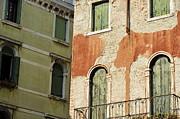 Old Buildings Facades Print by Sami Sarkis
