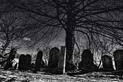 Headstones Prints - Old Burying Point Cemetery Print by K Hines