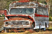 Rural School Bus Photos - Old Bus 01 by Andy Savelle
