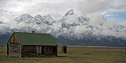 Old Cabin Photos - Old Cabin in  Grand Tetons by Gary Langley