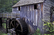 Grist Mill Photos - Old Cades Cove Mill by Paul W Faust -  Impressions of Light