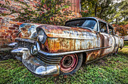 Truck Prints - Old Cadillac Print by Debra and Dave Vanderlaan