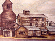 Montana Mixed Media - Old cake and flour mill by Dale Beckman