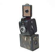 Bernard Jaubert Metal Prints - Old camera Metal Print by Bernard Jaubert