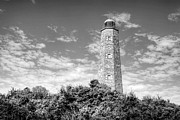 White Lighthouse.light Photos - Old Cape Henry in Black and White by JC Findley