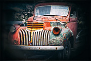 Old Pick Up Prints - Old Car Print by Charline Xia