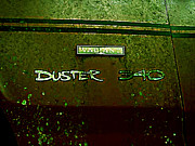 Plate Pyrography - Old Car City Duster Valiant by Richard Erickson