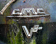 Gmc Framed Prints - old car city gmc V8 Framed Print by Richard Erickson