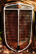 Ron Roberts Photography Greeting Cards Prints - Old Car Grill Print by Ron Roberts