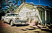 Old House Photographs Posters - Old Car  Poster by Maria Heyens