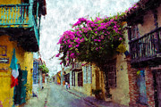 Old Towns Digital Art Prints - Old Cartagena 2 Print by Kurt Van Wagner