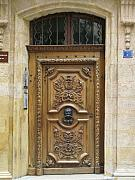 Entrance Door Photos - Old Carved Door by Christiane Schulze