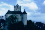 Sights Art - Old castle on a hill in blue twilight by Matthias Hauser