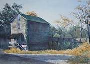 East Tennessee Paintings - Old Cave Mill by Russell Fox