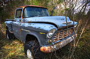 Old Trucks Photos - Old Chevrolet by Debra and Dave Vanderlaan