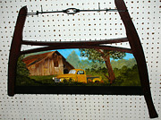 Old Barn Paintings - Old Chevy Pick Up by Darlene Prowell