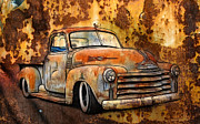 Model A Sedan Prints - Old Chevy Rust Print by Steve McKinzie