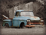 Antique Pick Ups Prints - Old Chevy Truck Print by Brenda Conrad