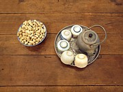 Wooden Bowl Photos - Old Chinese Tea Arrangement by Yali Shi