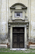 Medieval Temple Art - Old church door. by Fernando Barozza