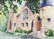 Fort Collins Painting Posters - Old church Poster by Svetlana Howe