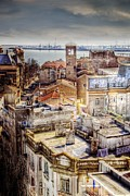 City Streets Photo Originals - Old City Aerial View by Daniel Barbalata