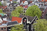 Rooftop Framed Prints - Old City of Amsterdam from Above Framed Print by Artur Bogacki