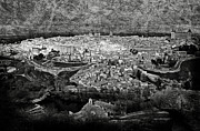 Toledo Photo Prints - Old city of Toledo BW Print by RicardMN Photography