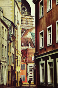 Old City Street Print by Gynt